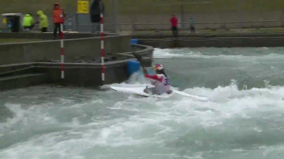 WOLFFHARDT VIKTORIA - FINAL Run   2015 ICF Canoe Slalom Ranking - Markkleeberg