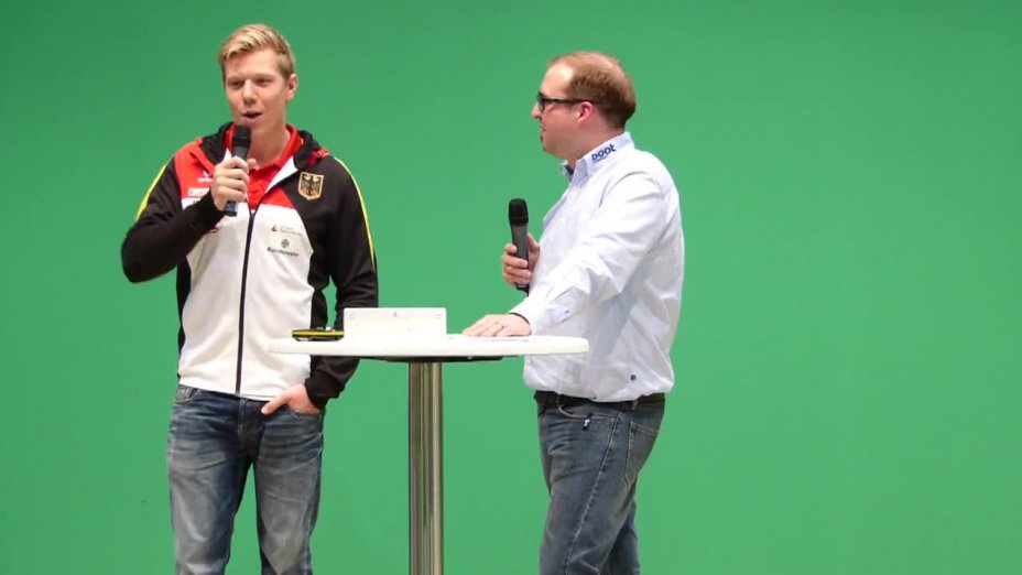 Lukas Reuschenbach im Interview auf der Messe boot