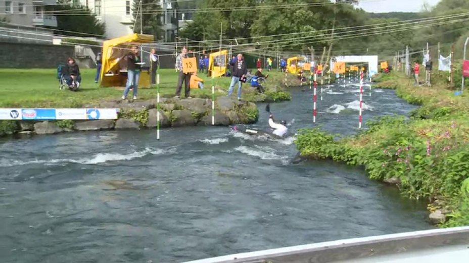 Damen K1 - 2. Lauf - Deutschlandcup Finale 2013 Hohenlimburg