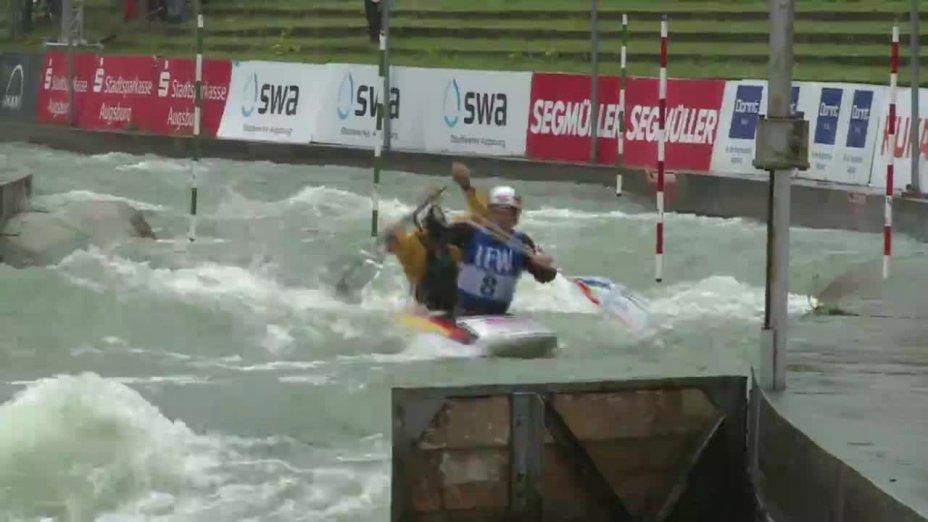 Schröder / Bettge - Quali 2015  Rennen 4 C2-Herren-Finale / Augsburg