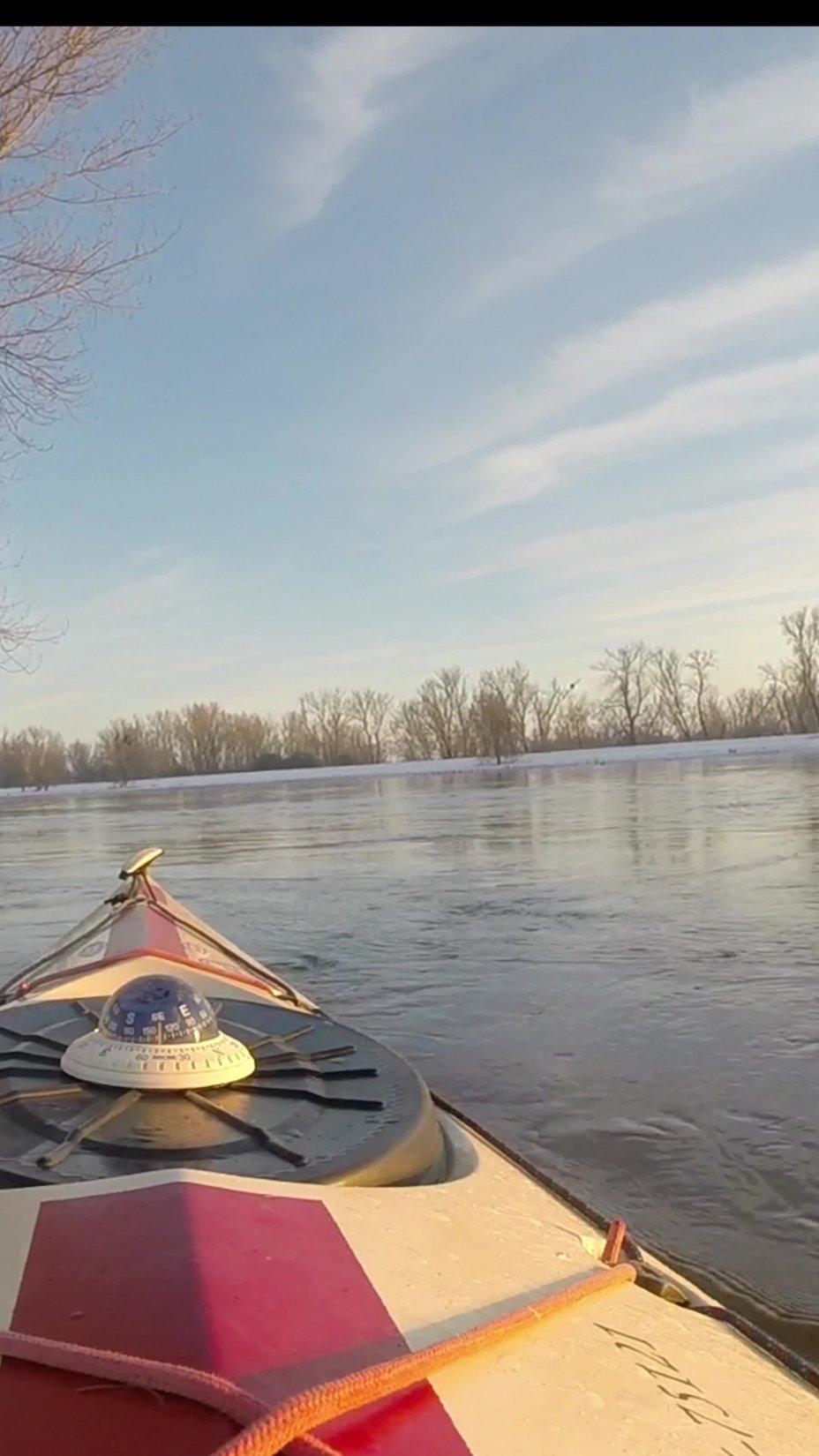 Begegnungen auf der winterlichen Elbe 14.02.2021