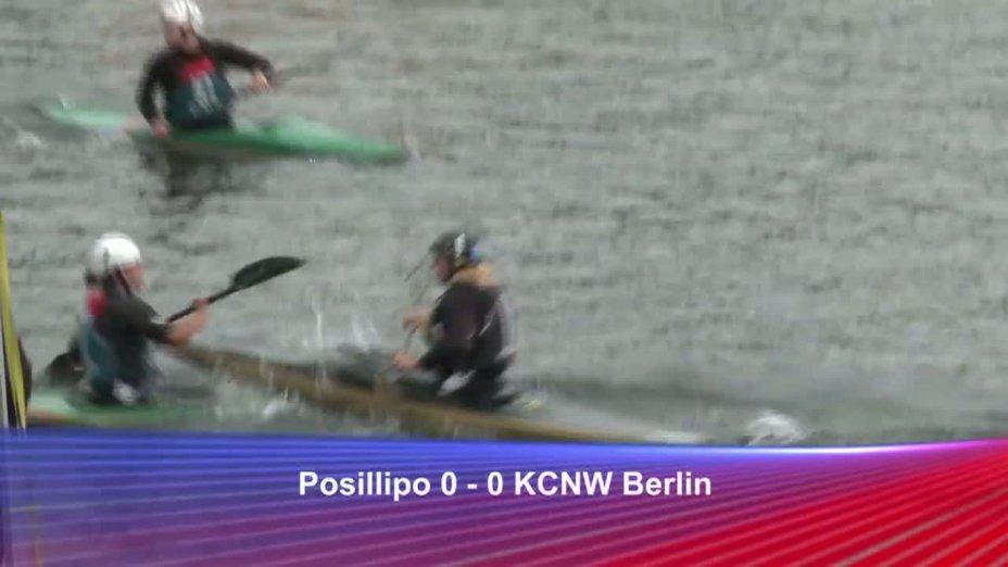 Spiel 133: Posillipo gegen KCNW Berlin bei der European Club Championships Canoepolo 2012