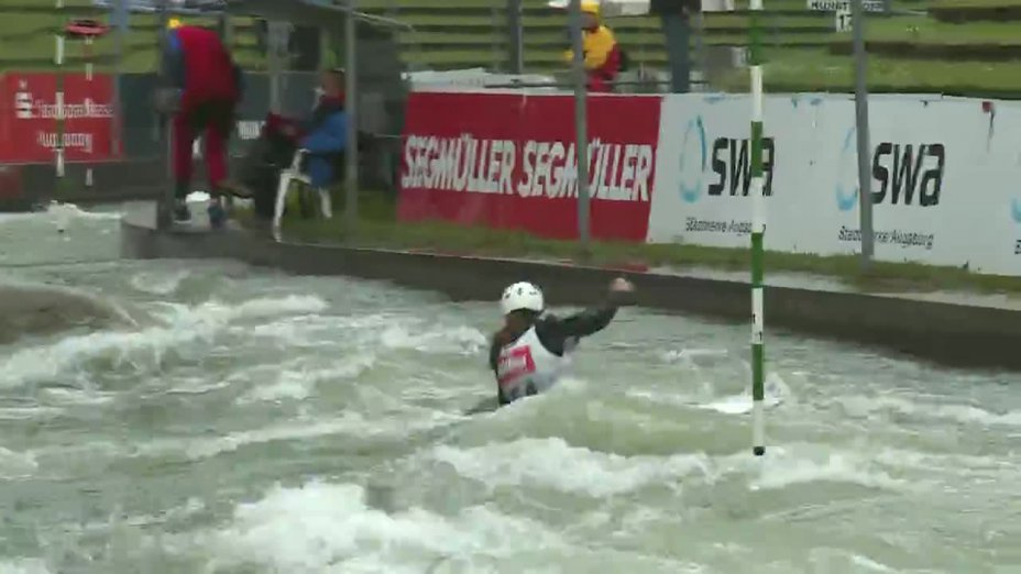 Franziska Hanke - Quali 2015  Rennen 4 C1-Damen-Finale / Augsburg