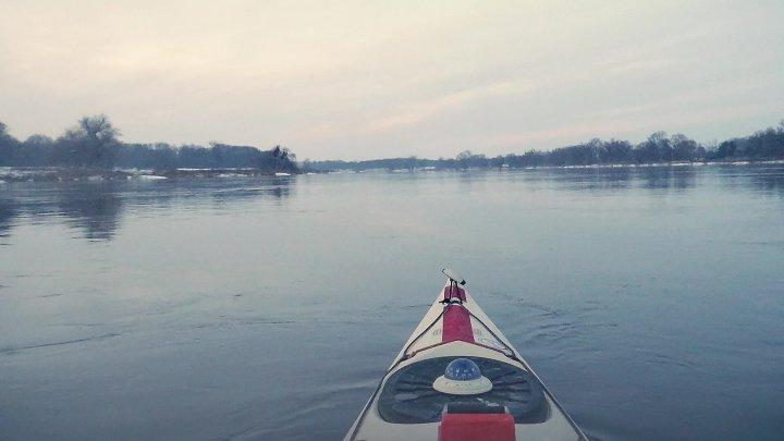 Winterabend auf der Elbe  - 31. Januar 2021